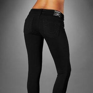 Skinny Strecth Ankle Denim Jeans in Black